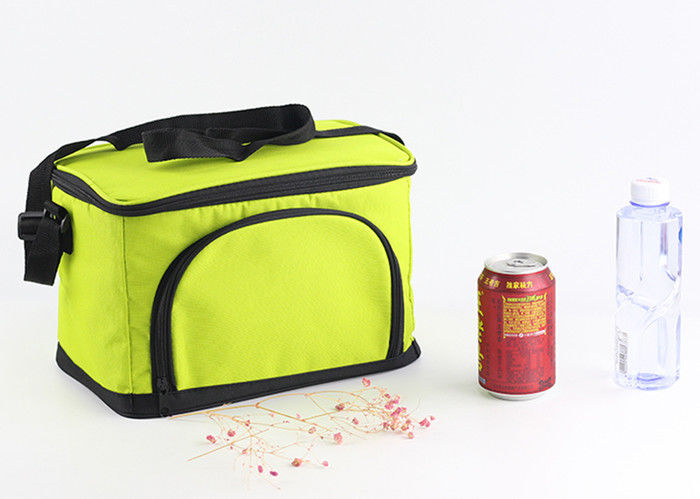 Custom 600D Large Insulated Cooler Bags Zippered Closure Food Storage Foldable